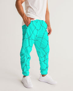 Kin Custom_001_Aqua Crackle Men's Track Pants