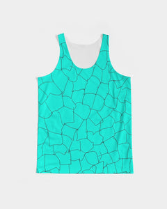 Kin Custom_001_Aqua Crackle Men's Tank