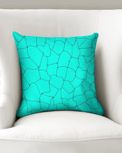 Load image into Gallery viewer, Kin Custom_001_Aqua Crackle Throw Pillow Case 16x16