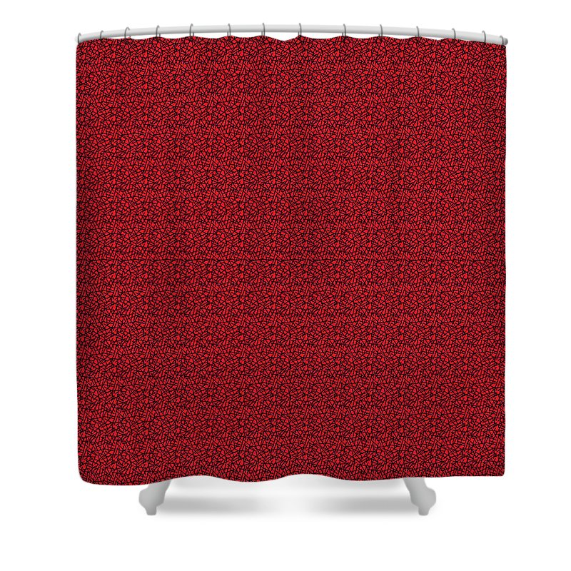 Pixels_Shower Curtain_See Red Thru Lace