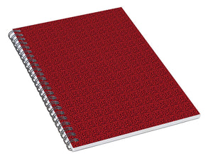 Pixels_Notebook Spiral Bond_See Red Thru Lace