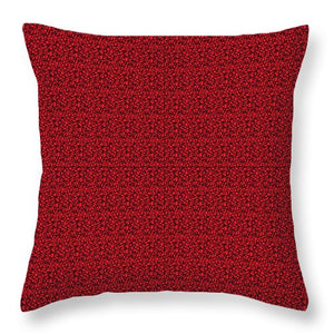 Pixels_Pillow Throw_See Red Thru Lace