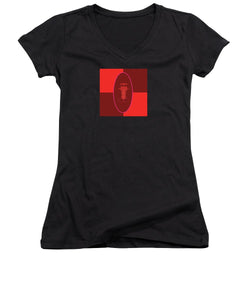 Pixels_T Shirt Women V Neck_The Little Man