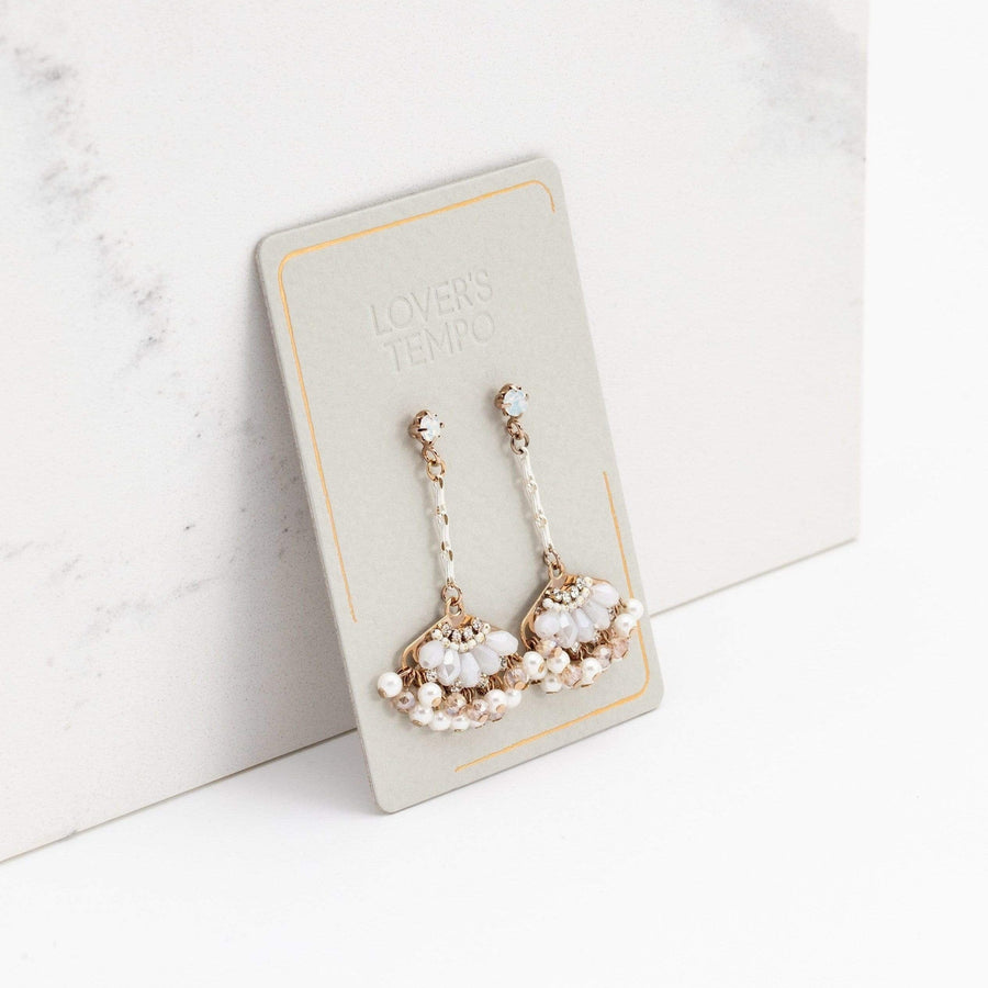 Magnolia Fan Drop Earrings