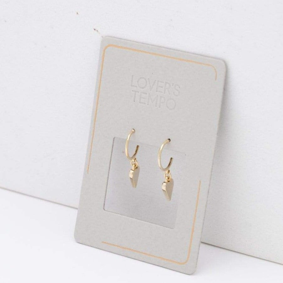 Everly Heart Hoop Earrings