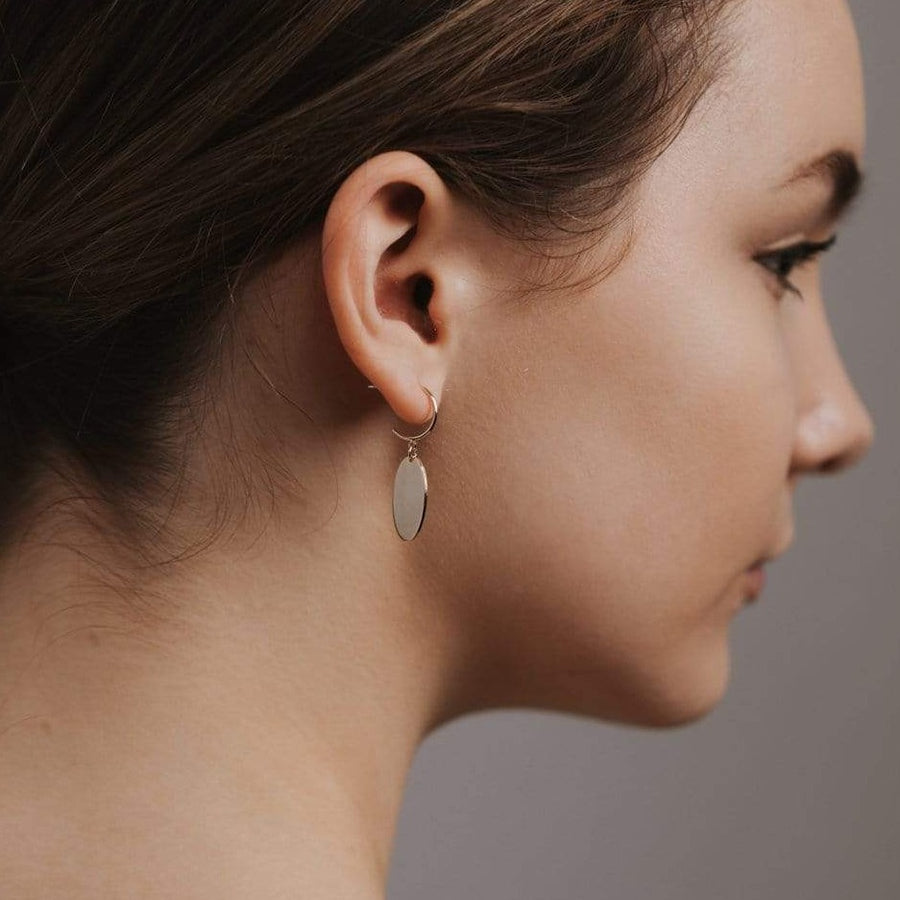 Everly Oval Hoop Earrings