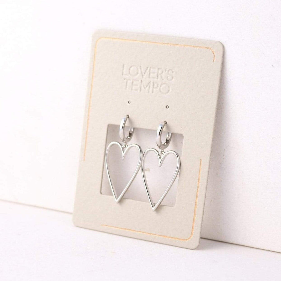 Lovestruck Heart Hoop Earrings
