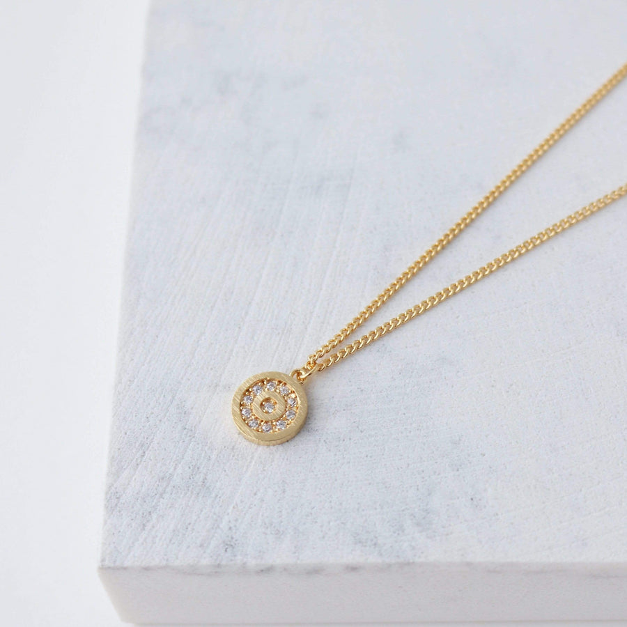 Cheers to You Pave Circle Necklace
