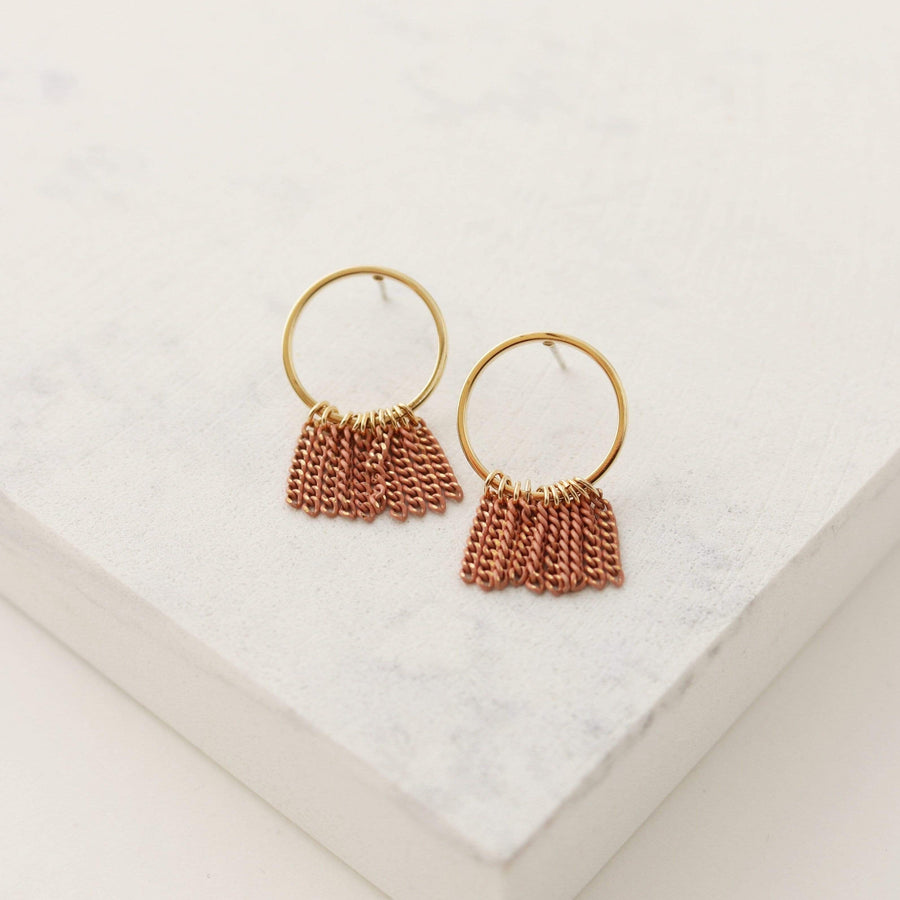 Olympia Fringe Hoop Earrings