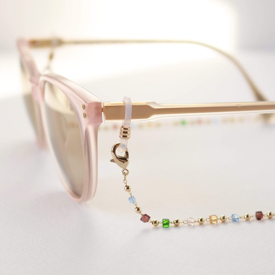Prism Beaded Convertible Glasses/Mask Chain
