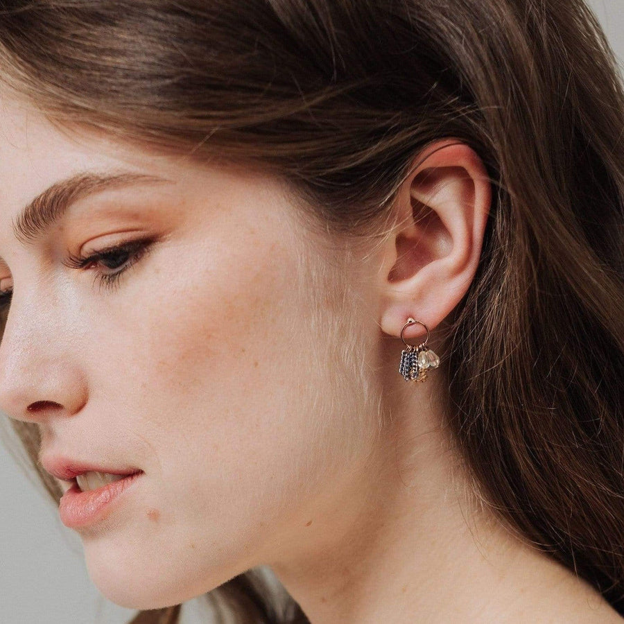 Jardin Cluster Hoop Earrings