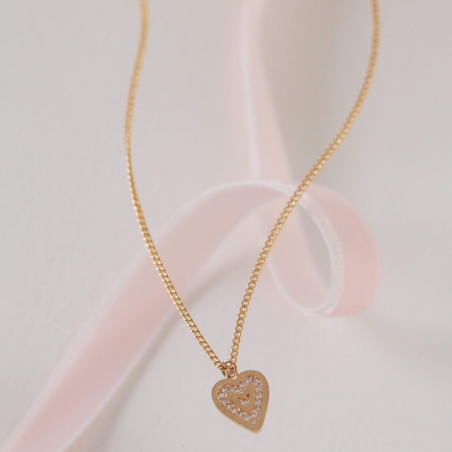 From the Heart Pave Heart Necklace
