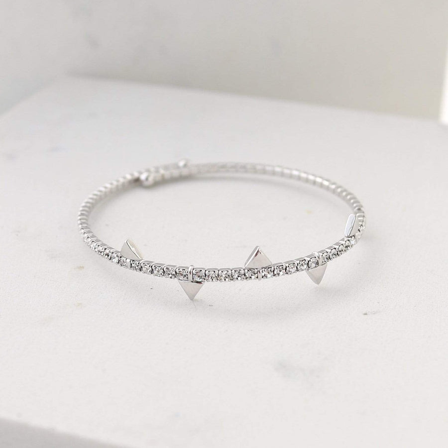 On Point Crystal Bangle