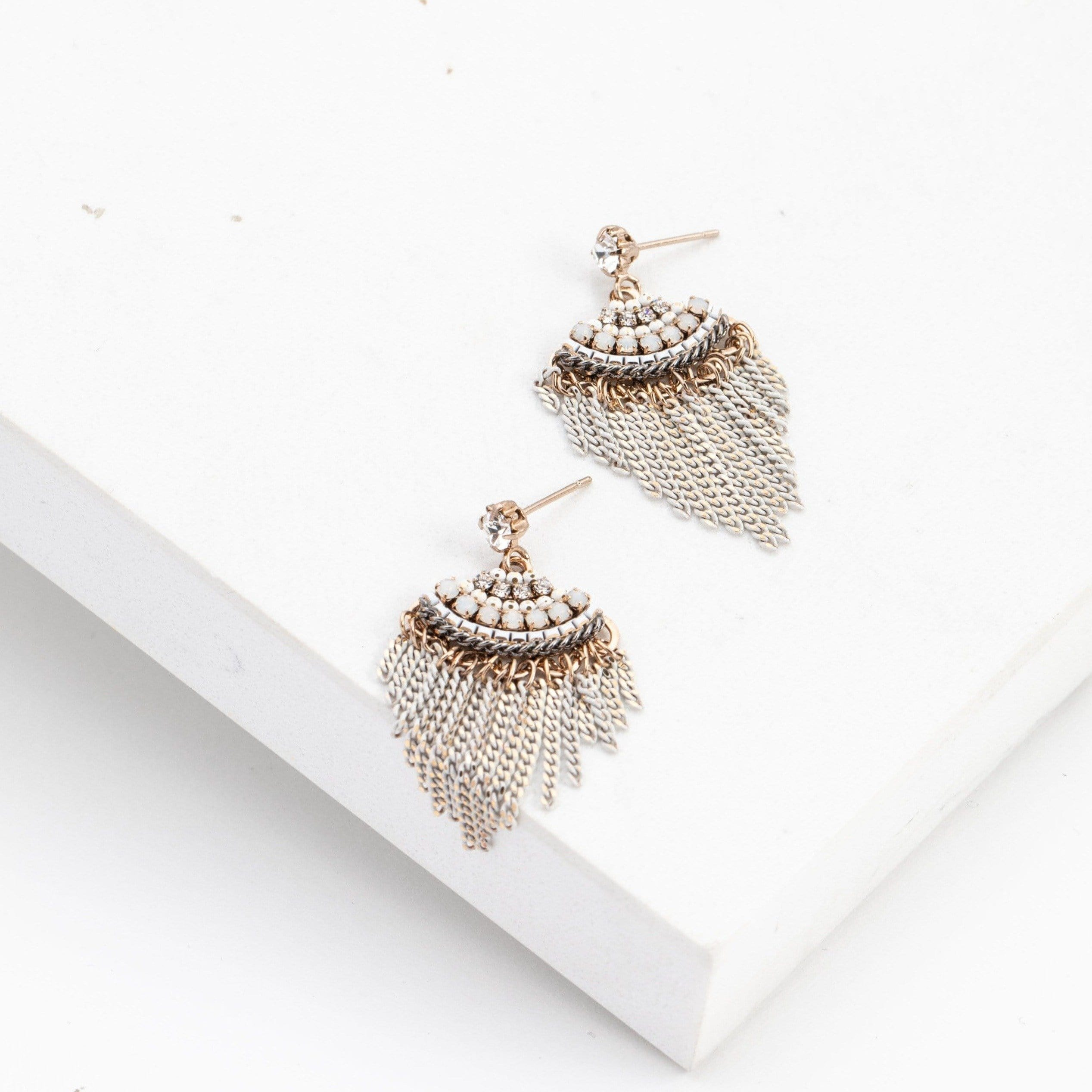 Juliette Fan Fringe Earrings