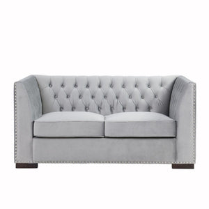 Chester 2 Seater Sofa Silver