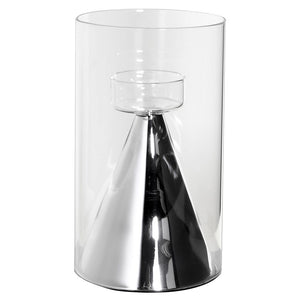 Silver Cone Base Hurricane Large