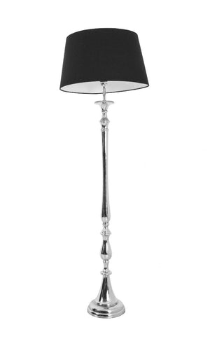 Nova Nickel Black Floor Lamp