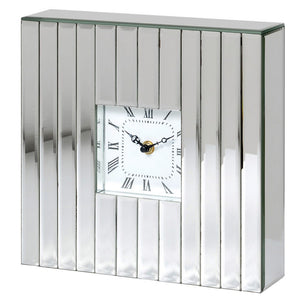 Silver Mirror Mantle Clock