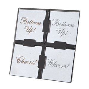 Square Mirror Coasters (Set of 4)