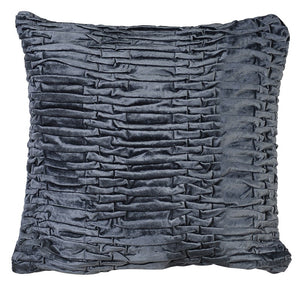 Grey Ruffle Cushion Cover