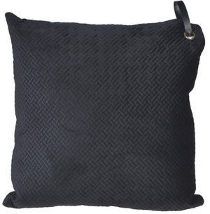 Black Weave Cushion with Tag