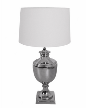 XL Nickel Table Lamp Cream