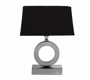 Nickel Halo Table Lamp Black