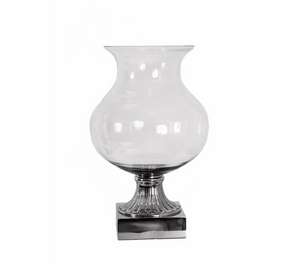 XL Nickel Iria Candle Holder