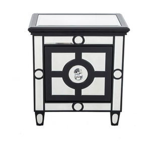 Harlow Black Mirrored Side Table