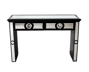 Harlow Black Mirrored Console