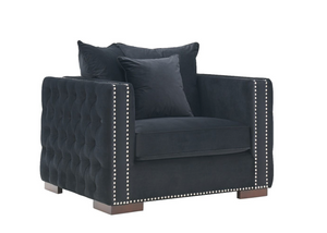 Madrid Velvet Chair Black