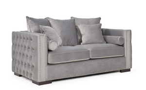 Madrid Velvet 2 Seater Sofa Grey