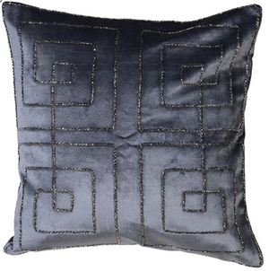 Grey Embellished Cushion Cover