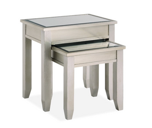 Juliet Champagne Mirrored Nest of Tables