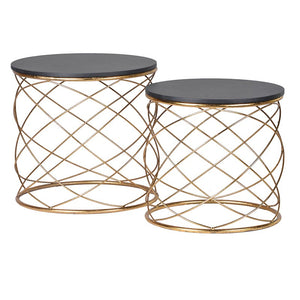 Gold Loops End Tables (set of 2)