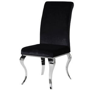 Black & Chrome Curved Dining Chair