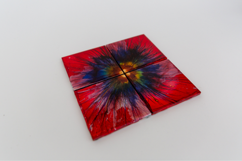 Crimson coasters (set of 4)