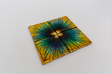 Blue and tan coasters (set of 4)