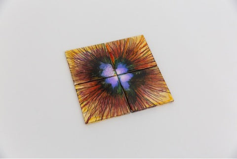Rainbow burst coasters (set of 4)