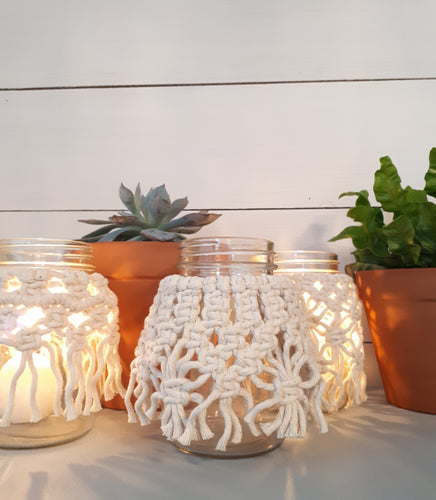 Macrame Tea Lights
