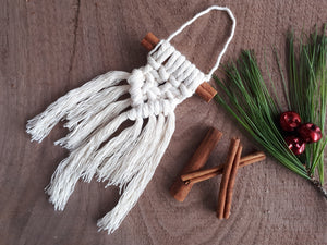 Macrame Cinnamon Stick Ornaments