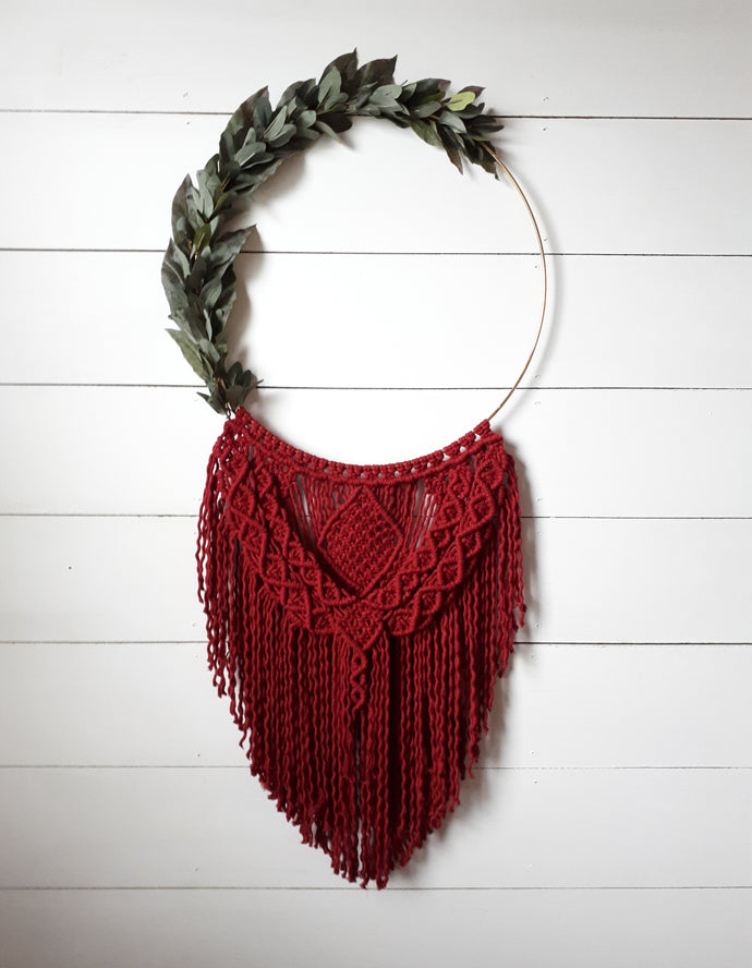 Macrame Holiday Wreath