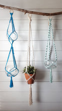 Load image into Gallery viewer, Macrame Double Plant Hanger