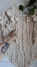 Load image into Gallery viewer, Macrame Flower Wall Hanging