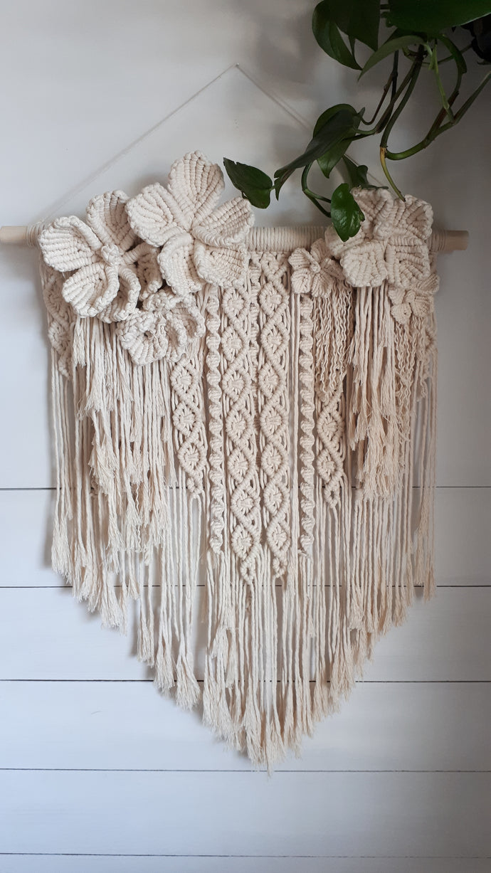 Macrame Flower Wall Hanging