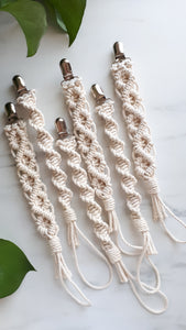 Macrame Soother Clip