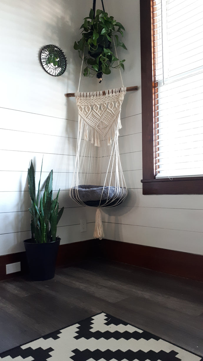 Macrame Cat Swing