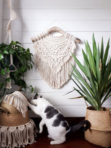 Macrame and Seagrass Basket