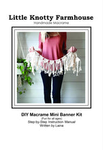 Load image into Gallery viewer, DIY Macrame Mini Banner Kit