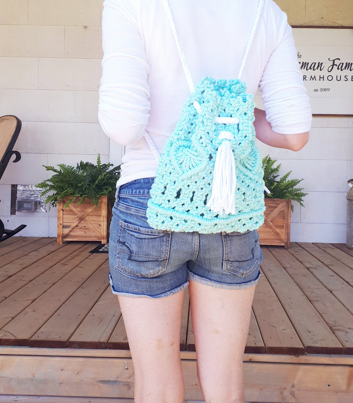 Macrame Backpack - Mini